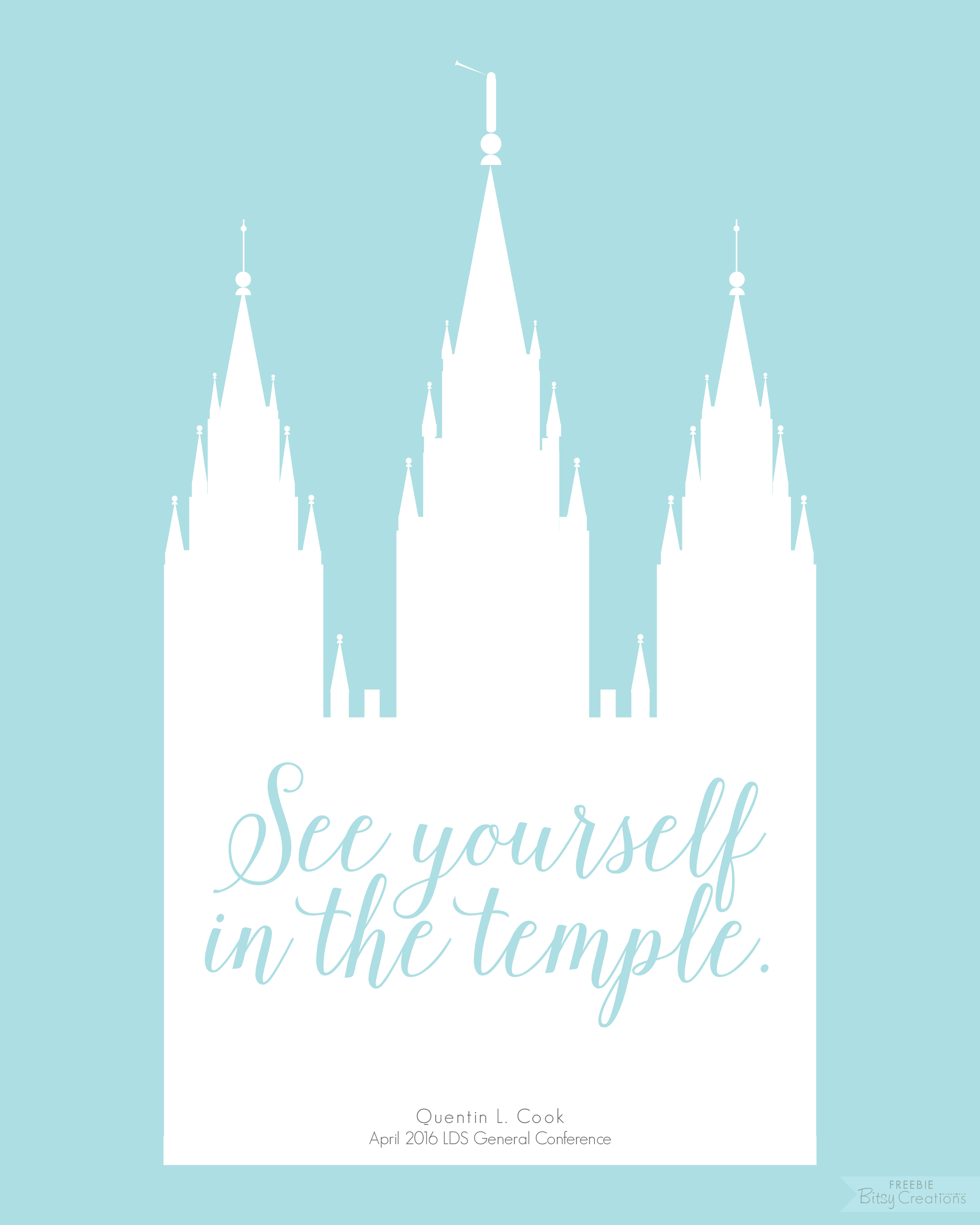 Free Printables  Quote Art from April 2016 LDS General