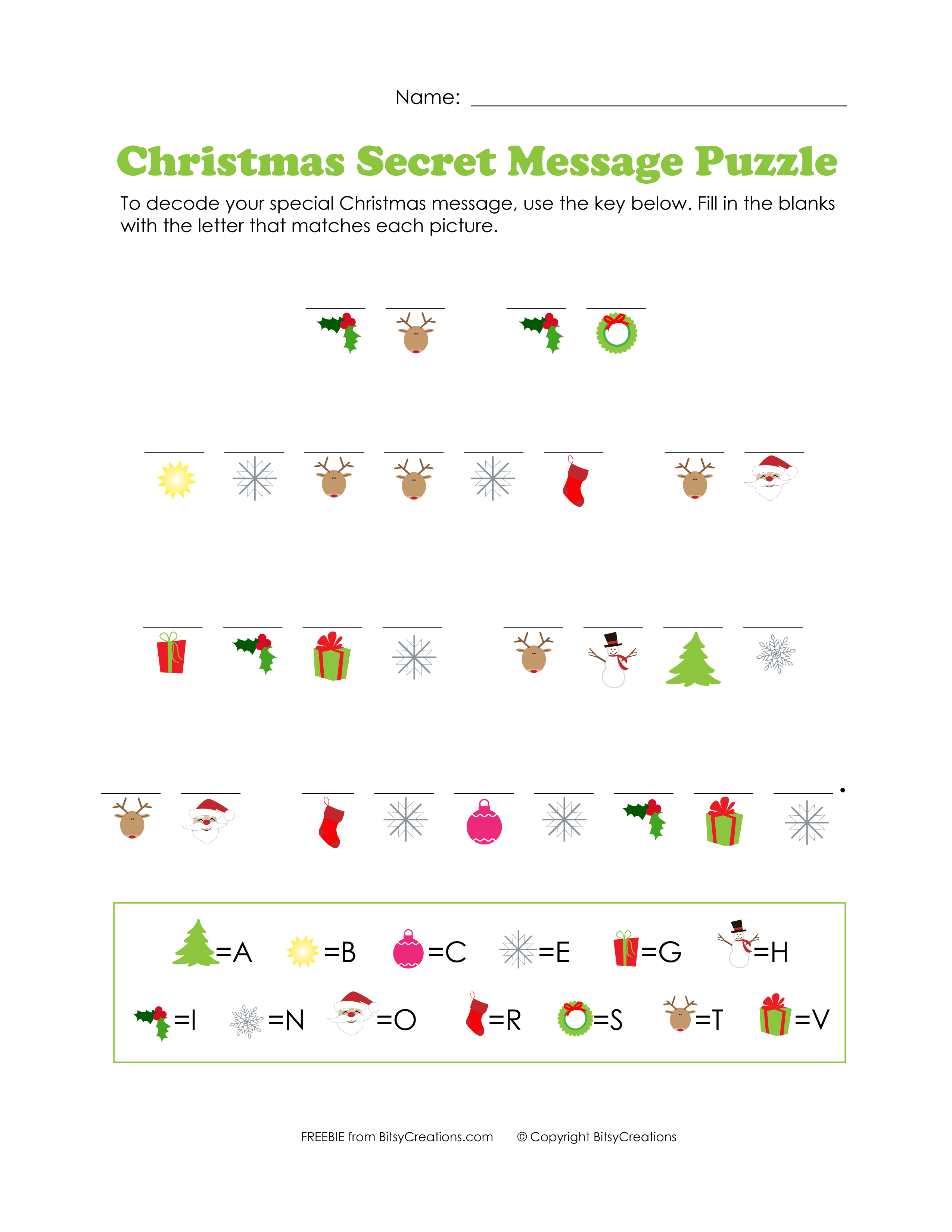 Free Printables From Bitsycreations