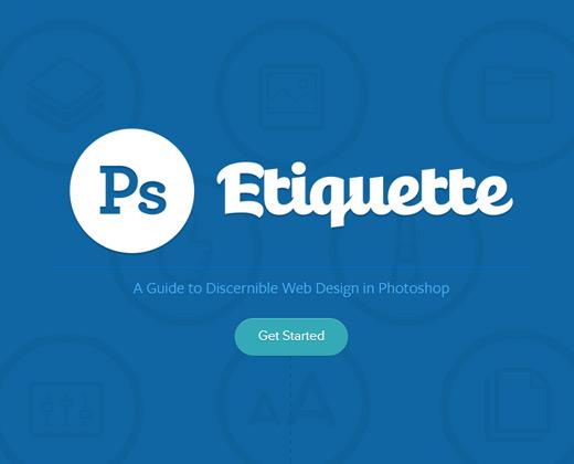 photoshop etiquette website resource