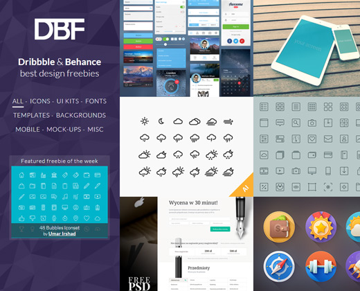dribbble behance freebies gallery