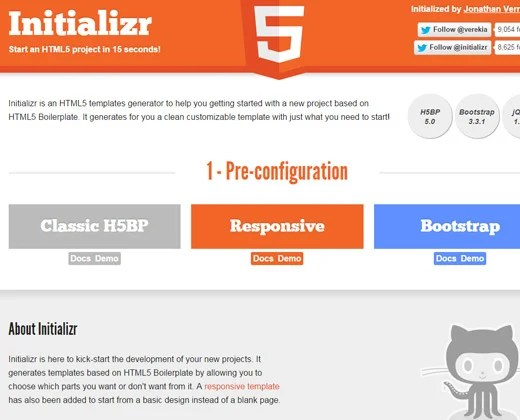 html5 initializr resource