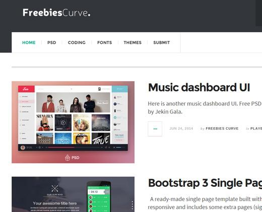 freebies curve gallery