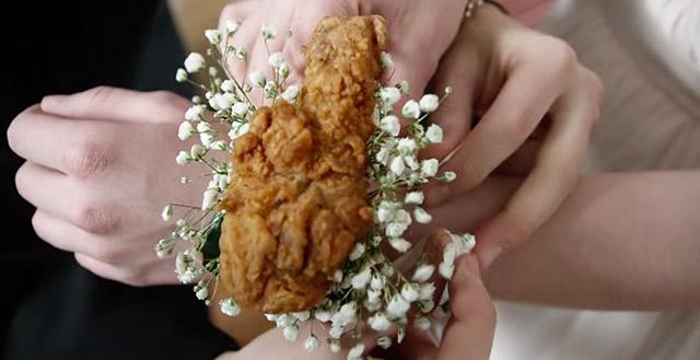 chicken corsage