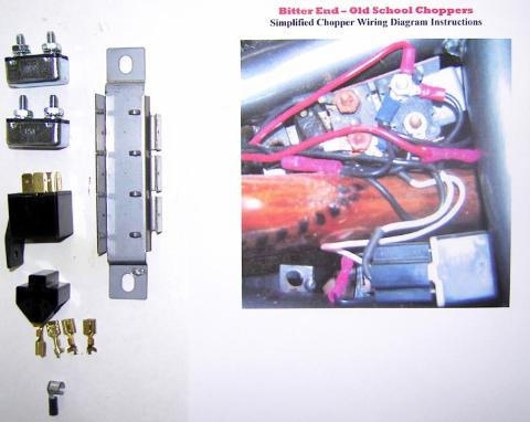 custom motorcycle chopper electrical wiring diagram  kit
