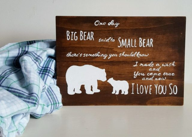 Wood nursery sign
