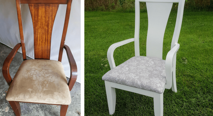 How to reupholster a chair feature