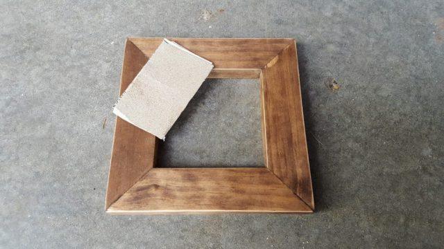 distress the frame