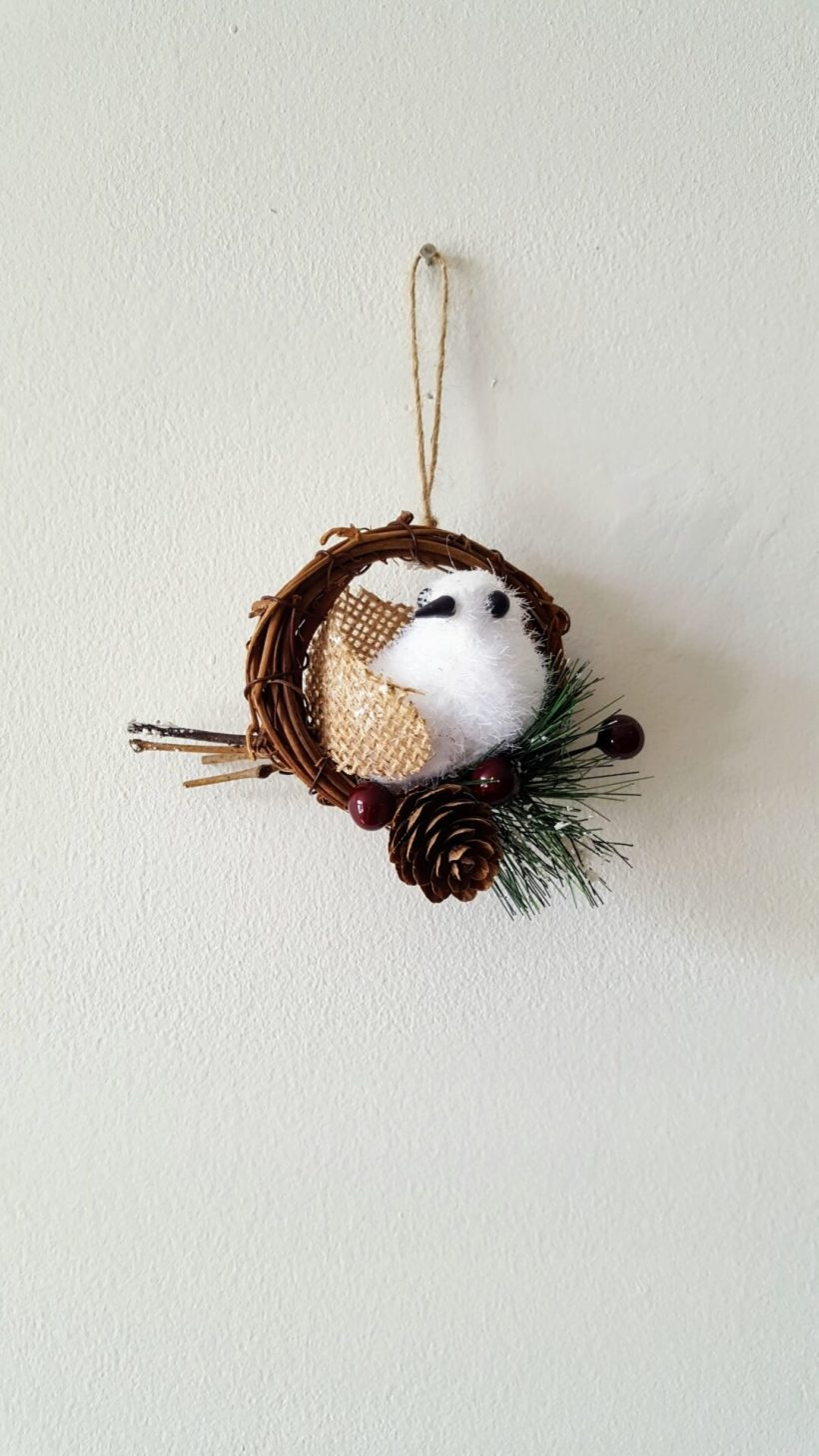 DIY Snowbird Christmas Ornament