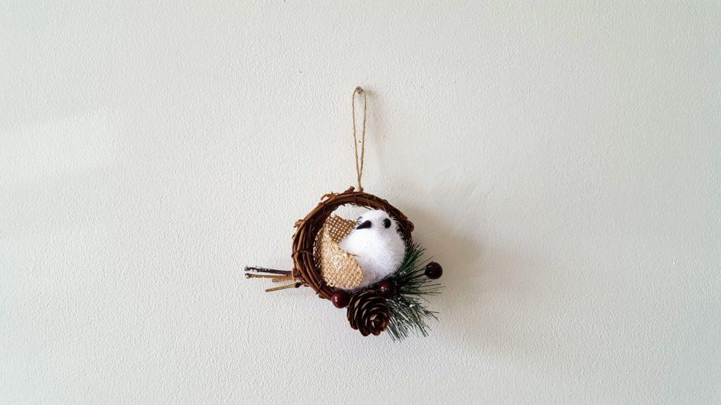 DIY Snowbird Christmas Ornament