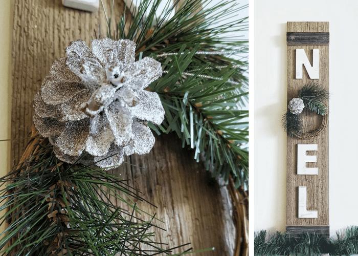 Diy Rustic Christmas Decor Noel Sign Bitterroot Diy