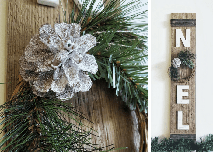 rustic farmhouse christmas decor noel sign