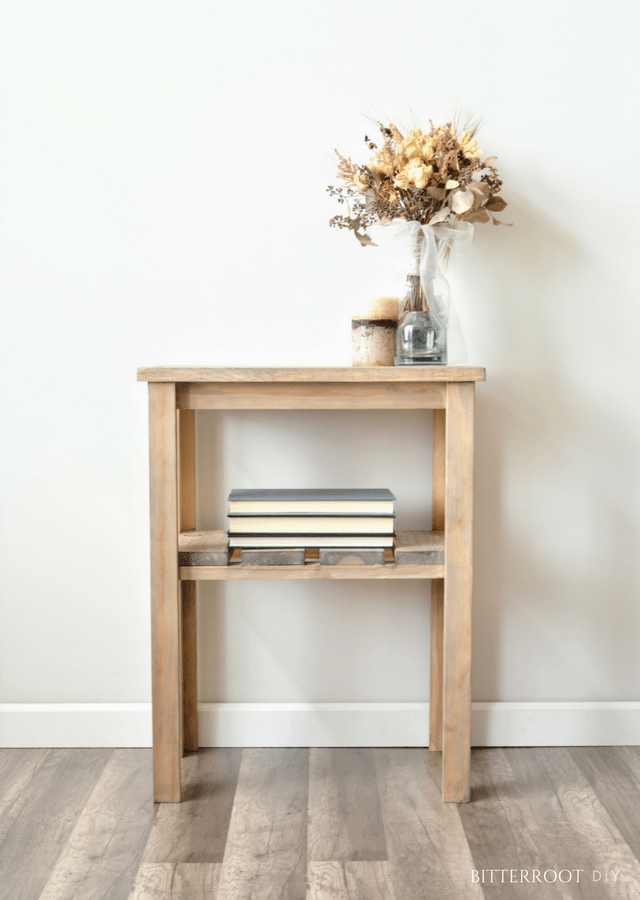 Weathered Rustic End Table
