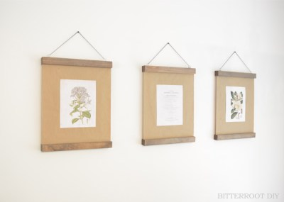 DIY Modern Wood Picture Frame