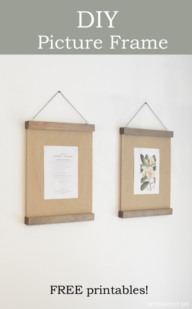 Modern Wood Picture Frame & Botanical Prints | Bitterroot DIY