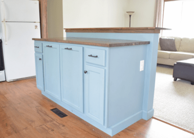 DIY Kitchen Island with Breakfast Bar