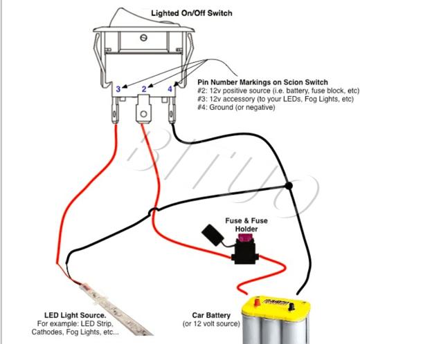 3 Position Rocker Switch Wiring Diagram : Rocker Switch