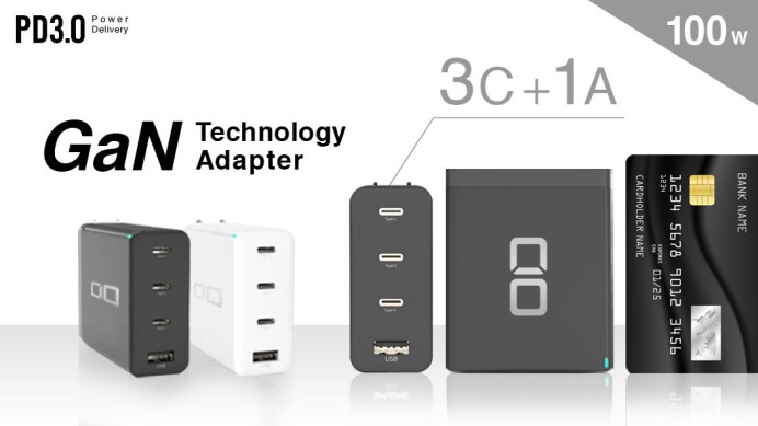 """3C+1A World's Smallest & Lightest 100W GaN Charger """"The CIO 3C1A"""""""
