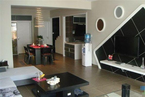 cafe kitchen curtains pantry furniture 130平装修三室二厅现代简约风格美家(组图) - 家居装修知识网