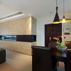 Kitchen Dinette Set Cream Colored Cabinets 11万巧装黑白简约婚房 沉稳大方有底蕴(图) - 家居装修知识网
