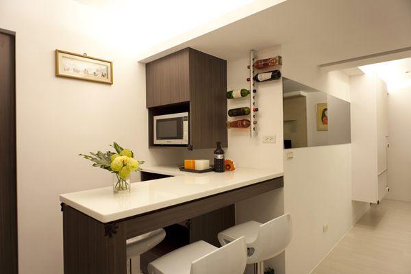 small kitchen tv ikea cabinets installation 9万软装60平现代简约唯美小居室美家(组图) - 家居装修知识网