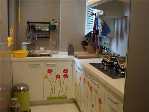 cabin kitchen decor metal shelves 5万装修42平一室一厅宜家温馨美家(组图) - 家居装修知识网