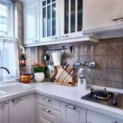 Blue Kitchen Sink Remove Grease Buildup From Cabinets 田园风的简约混搭 7万装舒适3房大户型(组图) - 家居装修知识网
