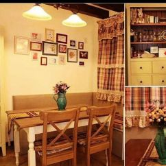 Kitchen Dining Chairs Kitchens Only 格子+碎花+原木 回归浪漫田园风(组图) - 家居装修知识网