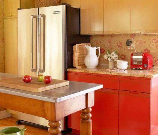 kitchen island with range layout planner 3-10平小户型厨房设计 色彩点亮厨房(组图) - 家居装修知识网