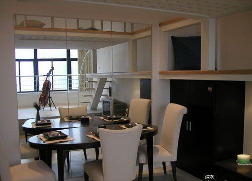 kitchen mirrors shelves for cabinets 小空间大利用经典设计 diy装修40平小户型(图) - 家居装修知识网