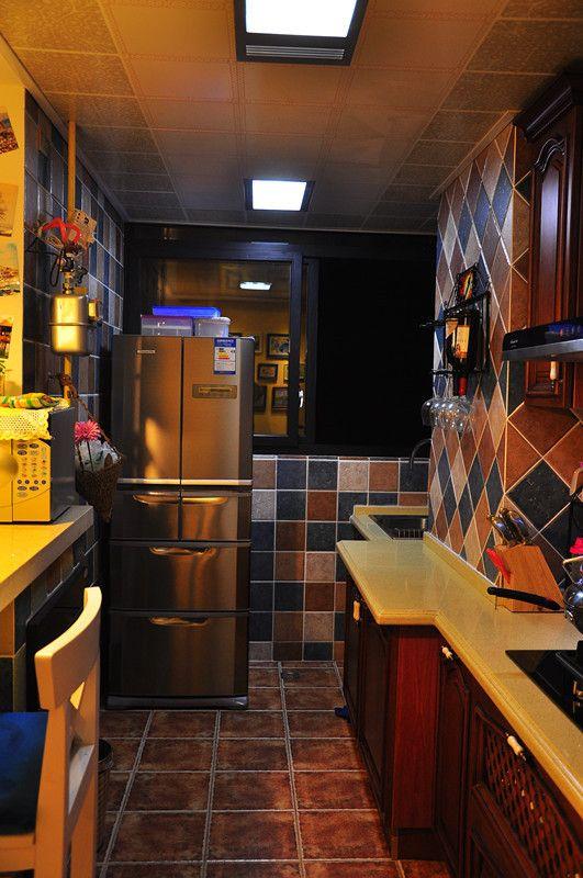 kitchen stools with backs islands granite top 9万硬装70平两室一厅 简欧地中海混搭(组图) - 家居装修知识网