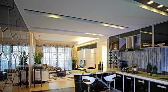 kitchen dining chairs remodel estimate 100平现代简约家 流线型时尚公寓设计 - 家居装修知识网