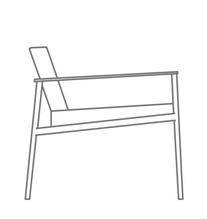 low arm chair