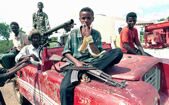 The anarchists contend that Somalia represents the beauty of statelessness. Well, Somalia is now being controlled by war lords, mafias, and gangs.