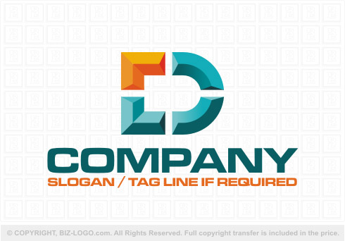 3d letter d logo