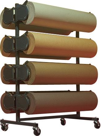 horizontal floor and wall mount paper racks