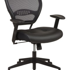 Office Star Eco Leather Chair Tub Chairs 5700e Air Grid Back With Black