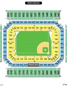 Alamodome seating chart baseball also charts  tickets rh bizarrecreations