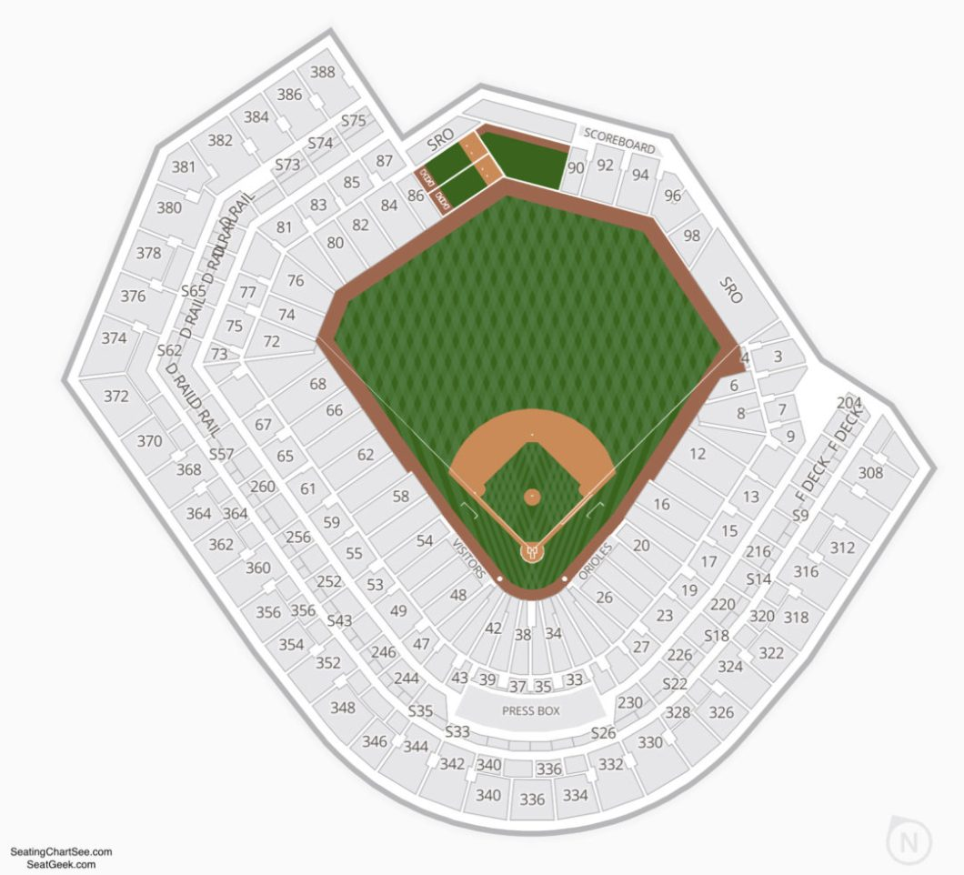 Orioles Seating Chart Camden Yards Wallseatco