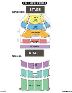 Fox theater seating chart oakland also charts  tickets rh bizarrecreations