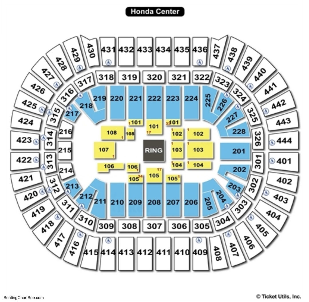 Honda Center Seating Chart - Otvod on map of smoothie king center, map of mandalay bay events center, map of pepsi center, map of cedar park center, map of first niagara center, map of baton rouge river center arena, map of moda center, map of united center, map of target center, map of centurylink center, map of cox convention center, map of bryce jordan center, map of wells fargo center, map of at&t center, map of tucson convention center, map of schottenstein center, map of allen event center, map of stubhub center, map of scottrade center, map of xcel energy center,
