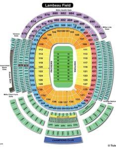 Lambeau field football seating chart also charts  tickets rh bizarrecreations