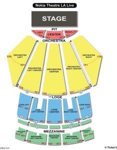 Microsoft theater seating chart also charts  tickets rh bizarrecreations