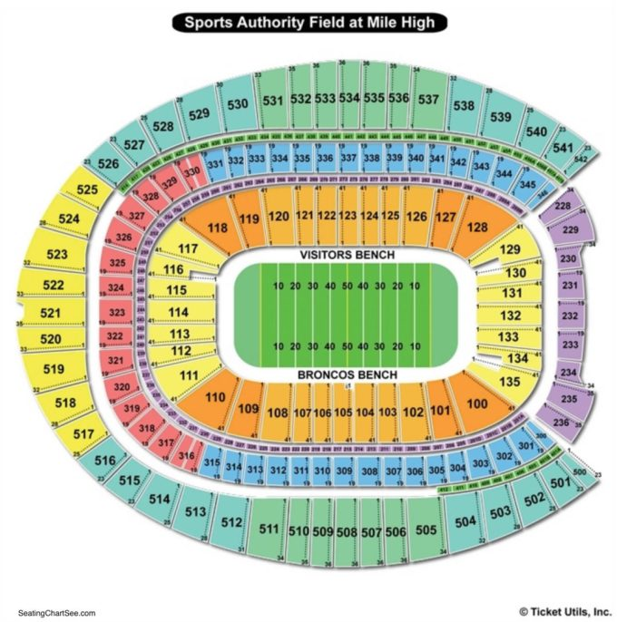 Sports Authority Field Seating Chart Concert