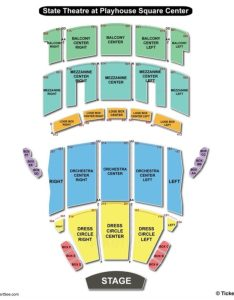 State theatre the playhouse square center seating chart main map also  rh bizarrecreations