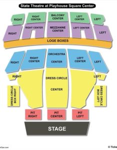 State theatre the playhouse square center seating chart pit also  rh bizarrecreations