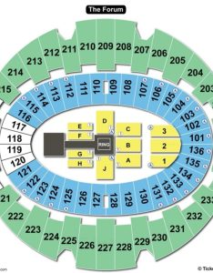 The forum inglewood seating chart wwe also charts  tickets rh bizarrecreations