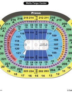 Wells fargo center hockey seating chart also charts  tickets rh bizarrecreations