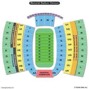 Clemson Memorial Stadium Seating Chart | Seating Charts