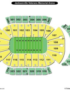 Jacksonville veterans memorial arena seating chart football also charts rh bizarrecreations