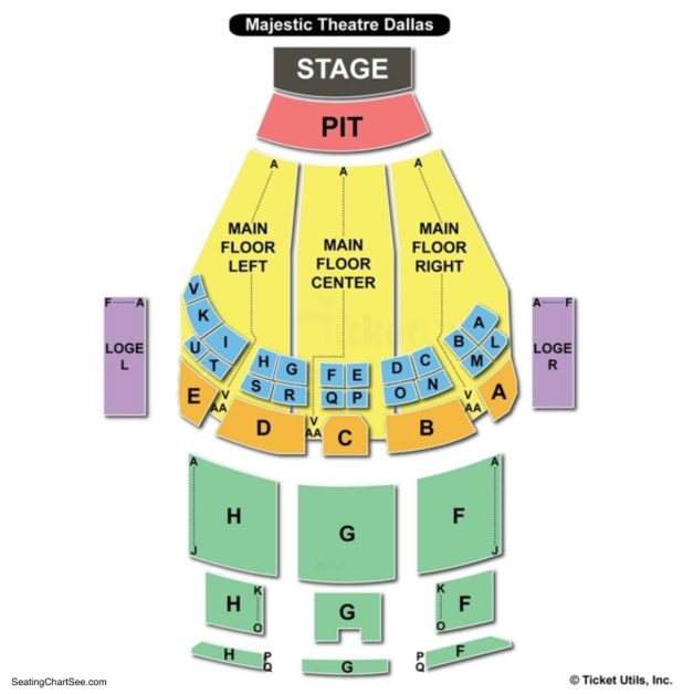 Majestic Theater Seating Map Brokeasshome Com